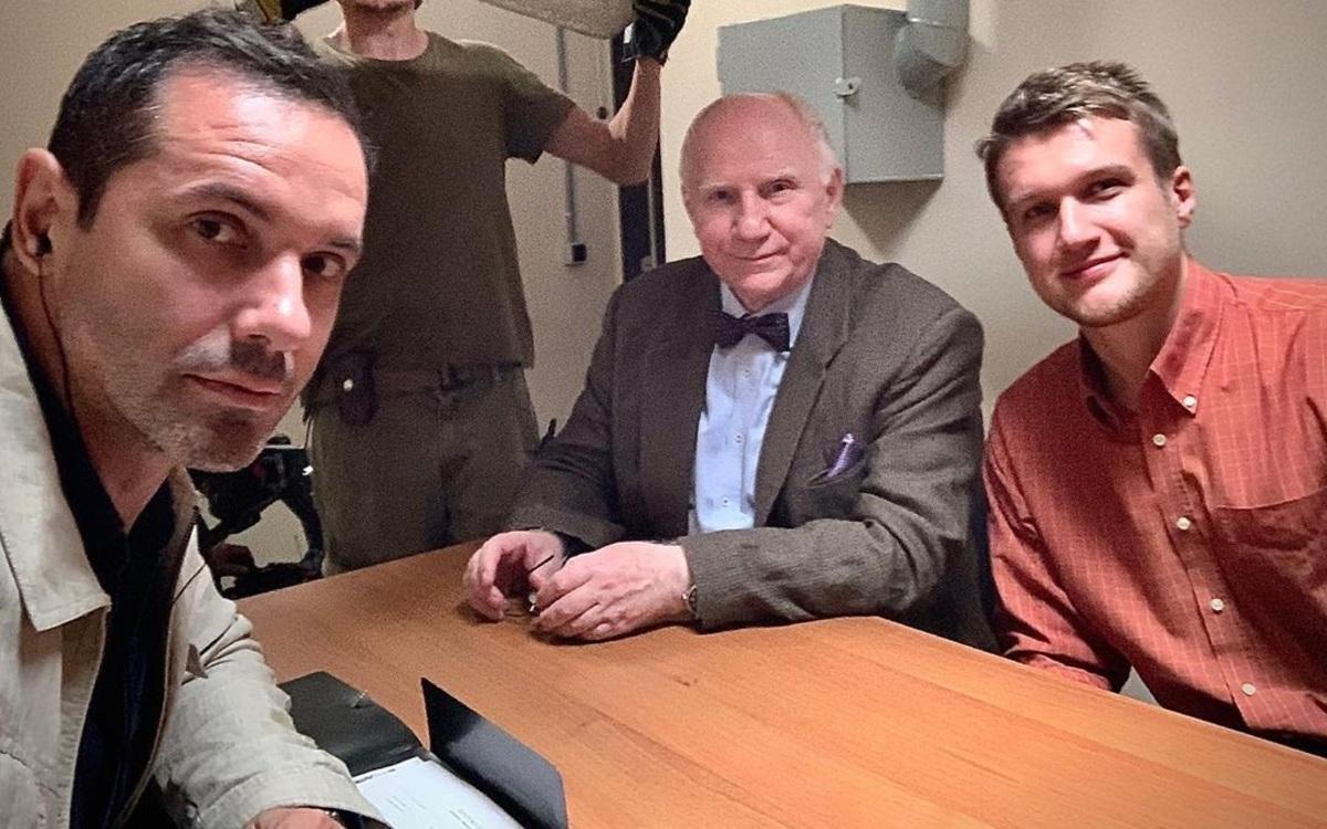 «Три Туза кинематографа»: Александр Никитин, Валерий Баринов и Анатолий Руденко на фото со съемок нового фильма