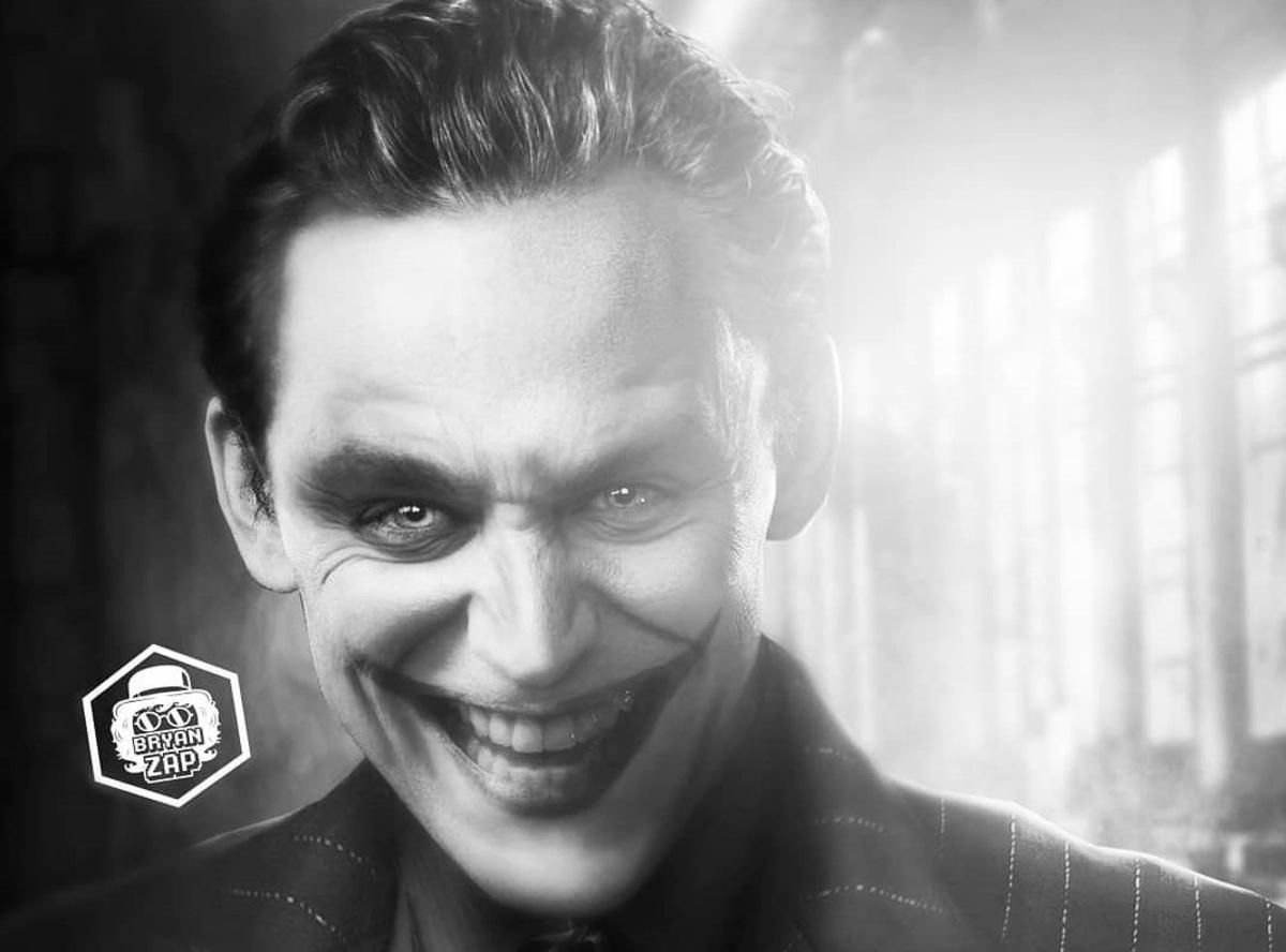 Том Хиддлстон примеряет образ Джокера на фан-арте «Бэтмена»