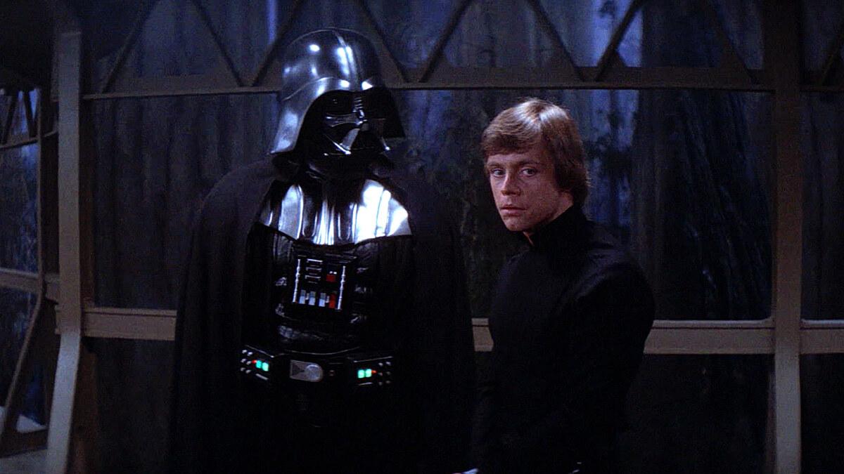 Дарт Вейдер и младенец Люк Скайуокер на фан-арте к сериалу «Оби-Ван Кеноби»