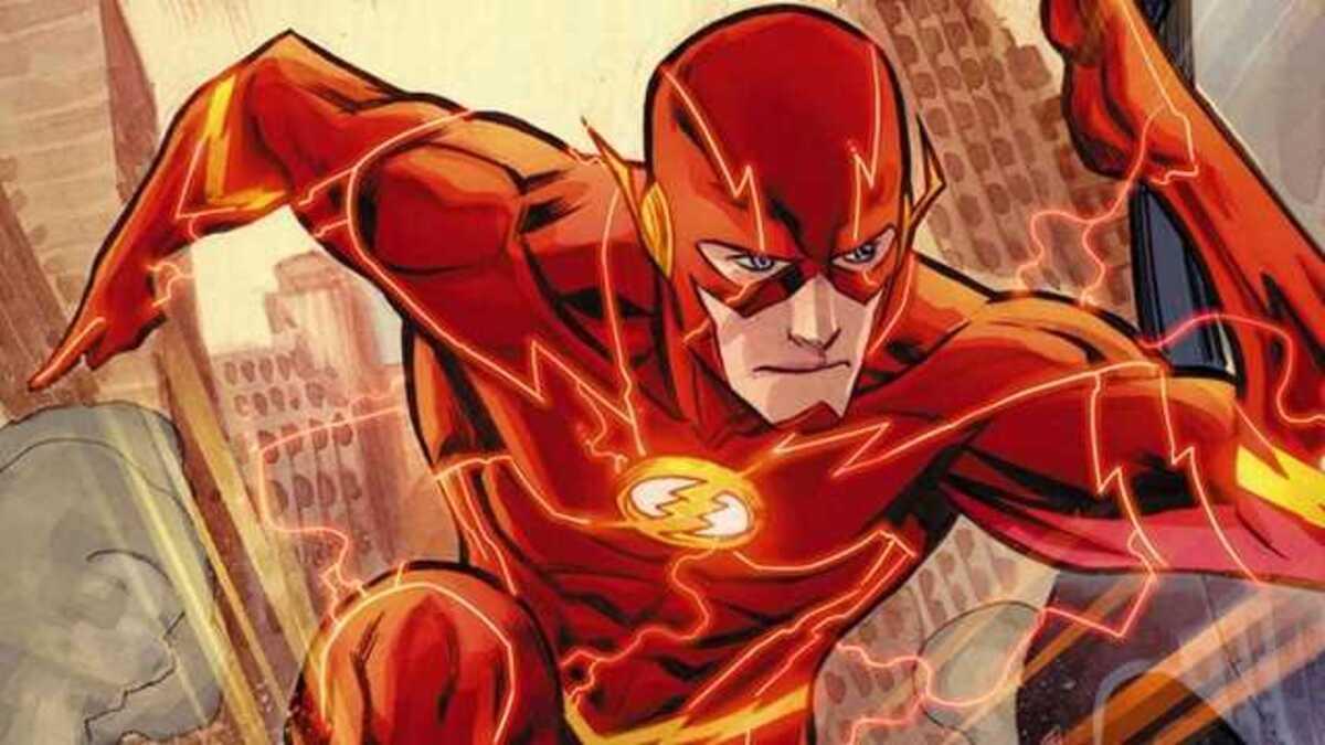 Эзра Миллер примеряет костюм Флэша из комиксов DC на новом фанарте