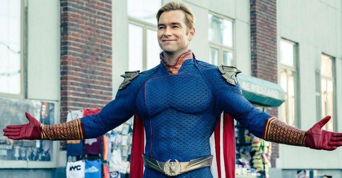 Энтони Старр поделился фан-артом, на котором Хоумлендер сокрушает Супермена
