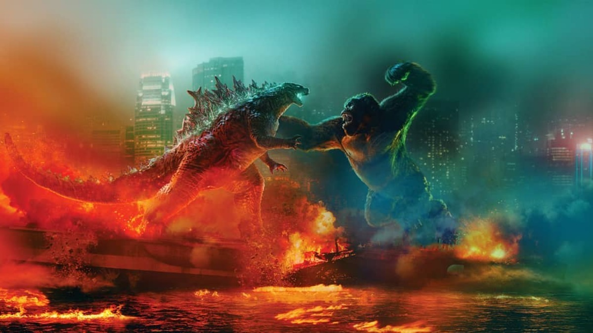 Фильм «Годзилла против Конга» получил серию эффектных стилизованных постеров
