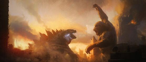 Создатели «Годзиллы против Конга» показали эпичный новый промо-арт